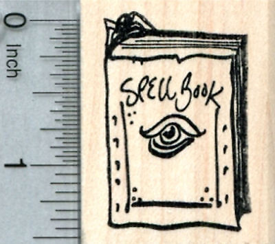 Spell Book Rubber Stamp, Halloween Witch Series E32802 - Halloween Spell Book