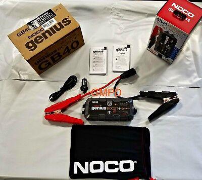 (NOCO Genius Boost HD GB40 1000 Amp Ultra Safe Lithium Jump Starter 12V NEW!!!)
