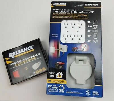 Reliance Through Wall Mount Generator Transfer Kit With Inverter Adapter