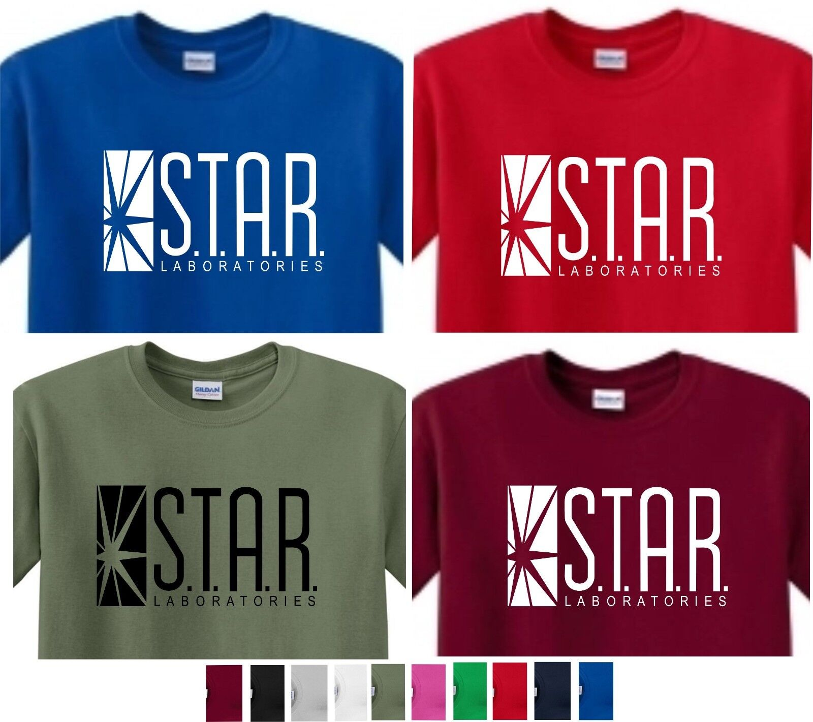 Star laboratories Labs T shirt DC Flash Comics Superhero nav