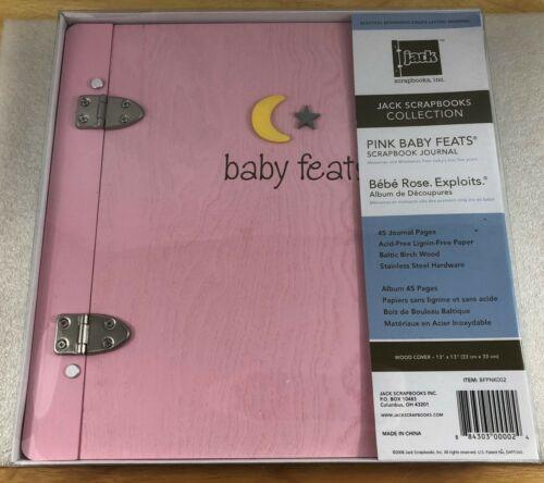 Jack Scrapbook Baby Feats Scrapbook Journal Memory Book - Pink