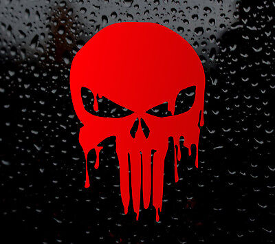 BLOODY RED PUNISHER SKULL CAR DECAL VINYL STICKER FOR WINDOW PANEL BUMPER LAPTOP