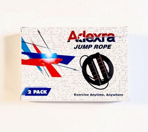 2-Pack Adexra Jump Rope Tangle Free Rapid Speed Adjustable Steel Wire Anti-Slip
