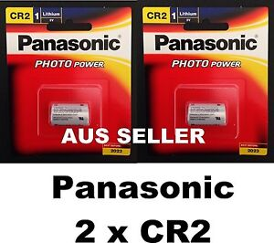 2 Genuine Panasonic CR2 Lithium 3V Battery for photo camera CR-2W/1BE