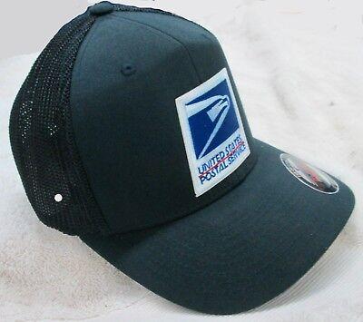 USPS United States Postal Service Navy Blue Flexfit Mesh Cap/Hat by Yupoong - Navy Flex Fit Cap