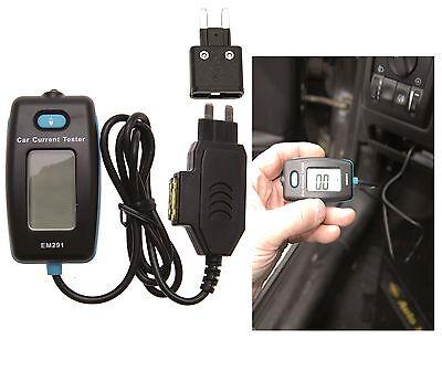 BGS Digitales Amperemeter am Sicherungskasten Strom Verbrauch messen Kriechstrom
