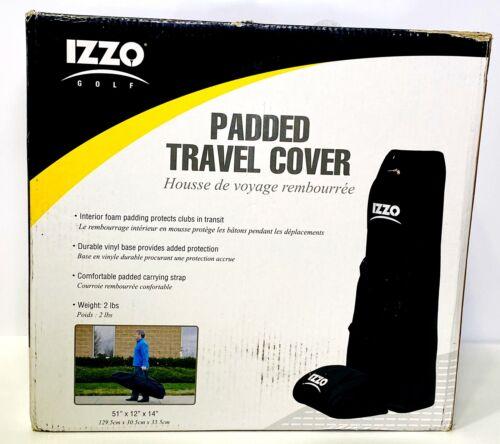 IZZO PADDED GOLF BAG TRAVEL COVER BLACK