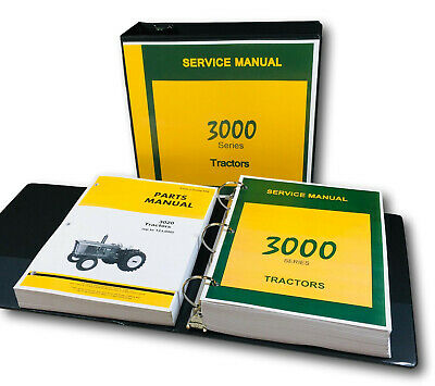 Service Manual Set For John Deere 3020 Tractor Parts Tech Shop Repair Catalog