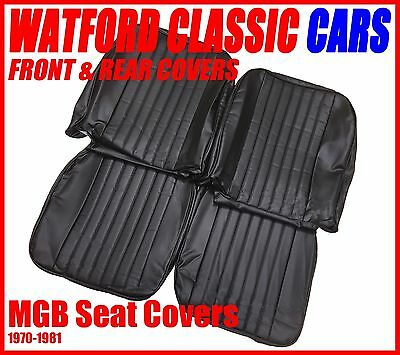 MGB ROADSTER AND GT PAIR OF SEAT COVERS 1970  1981 LEATHER LOO</em>...