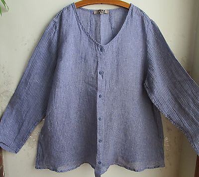 FLAX  Linen  Shirt    S  M   NWT     Sunshine Aligned Blouse Hydrangea Gauze