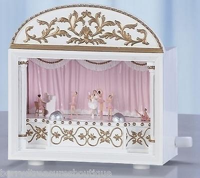 "6.25"" Ballet Ballerina Musical Theatre Music Box Plays Sleeping Beauty # 65592"