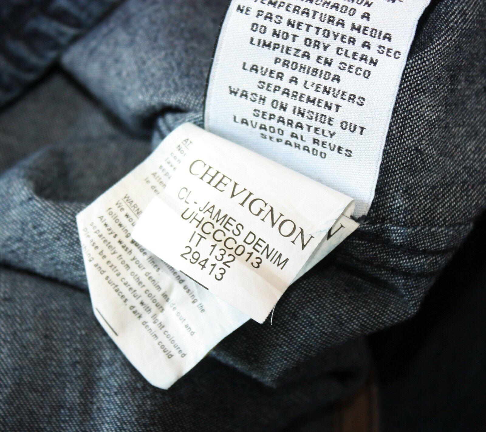 Chevignon - chemise en jean james togs denim shirt brut staight fit taille s