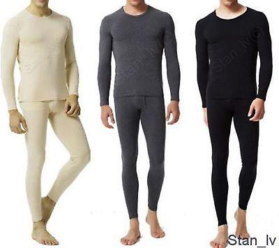 Mens 2pc Top and Bottom Long John Underwear Thermal Set Waffle Knit M L XL XXL (Mens Thermal Long John)