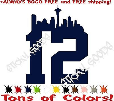 738b9a82f 2- 12th Man Decals Sticker NFL Seattle Seahawks Vinyl Window Decal  Originals!!