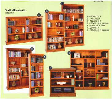 New Bookcases Timber All Sizes Start at $299.Rent To Keep Option.