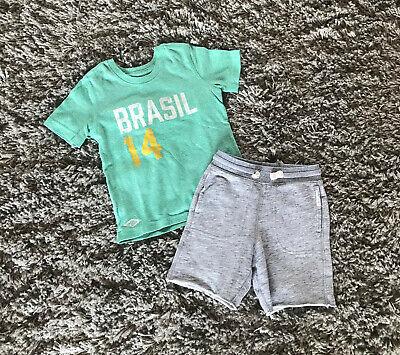 * GAP * Set * T-Shirt + Hose * Brasilien Fußball Trikot * Gr. 3 Jahre * Gr. 98 * ()