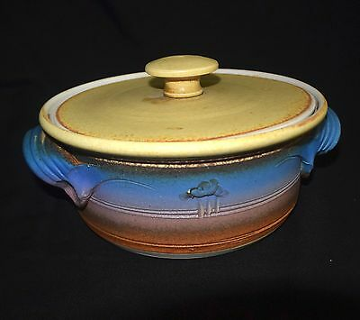 Vtg Southern Cross Handcrafted Australian Art Pottery Covered Dish/Casserole