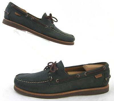 Dockside Collection (Sebago Crest Collection Docksides Boat Shoes Forest Green Leather US)