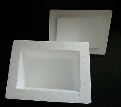 Foam Styrofoam Insulation Mailing Container Box 11 14 X 7 38 X 7 12 Inside