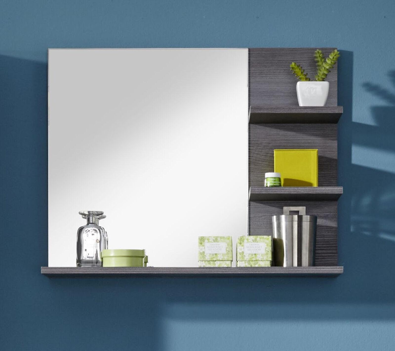 badspiegel badezimmer bad spiegel sardegna grau mit regal ablage m bel miami 70 eur 54 99. Black Bedroom Furniture Sets. Home Design Ideas