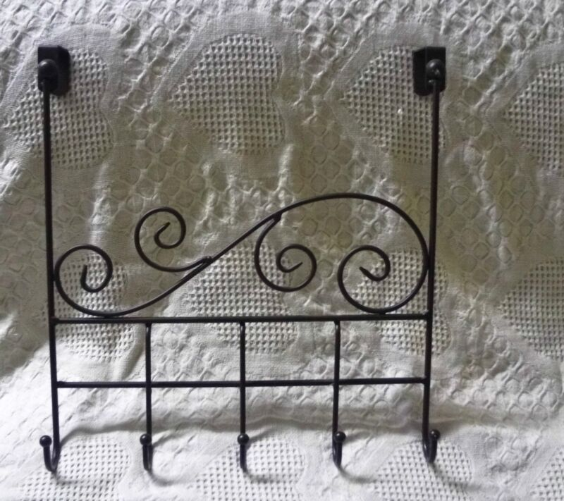Metal Over The Door Hooks For Towels Or Robes