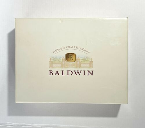"VINTAGE Baldwin Brass Smithsonian Institute Pair 6.5"" Column Candlesticks Fluted"