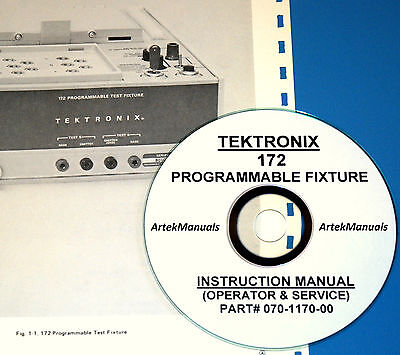 Tektronix Operating Service Manual For 172 Programmable Test Fixture For 576