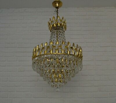 Vintage Chandelier Ceiling Light Fixture Socket Threaded Bobeche Lamp Aluminum