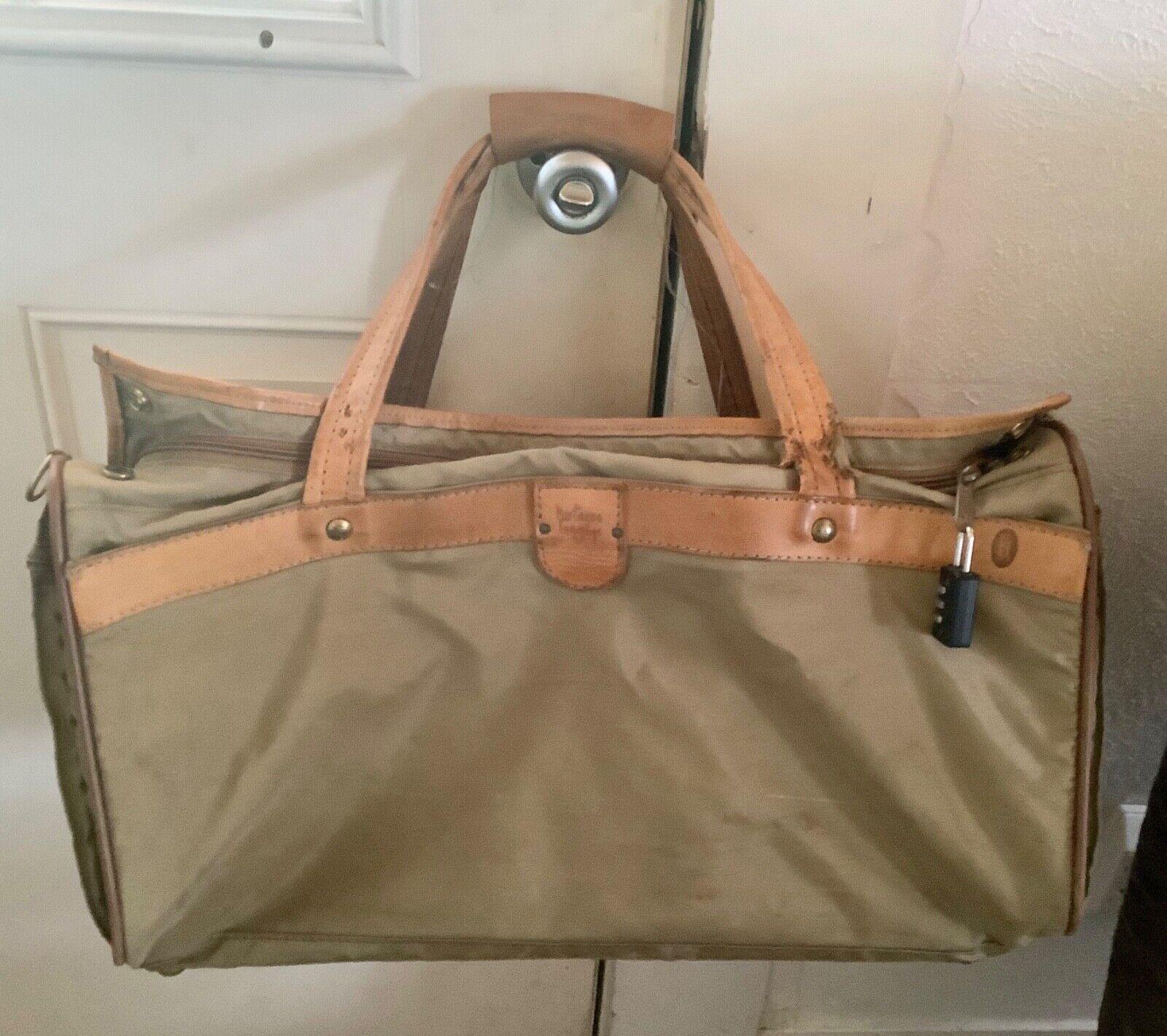 Hartmann Ballistic Nylon Leather Trim Carry On Duffle Bag Vintage 20 Suitcase - $39.99