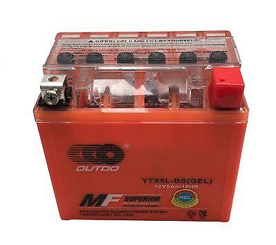 GEL YTX5L-BS GTX5L-BS ATV Battery for Honda CRF150F CRF230F CRF250X TRX90X NEW