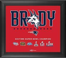Tom Brady New England Patriots Framed 15 x 17 G.O.A.T. Collage - Fanatics