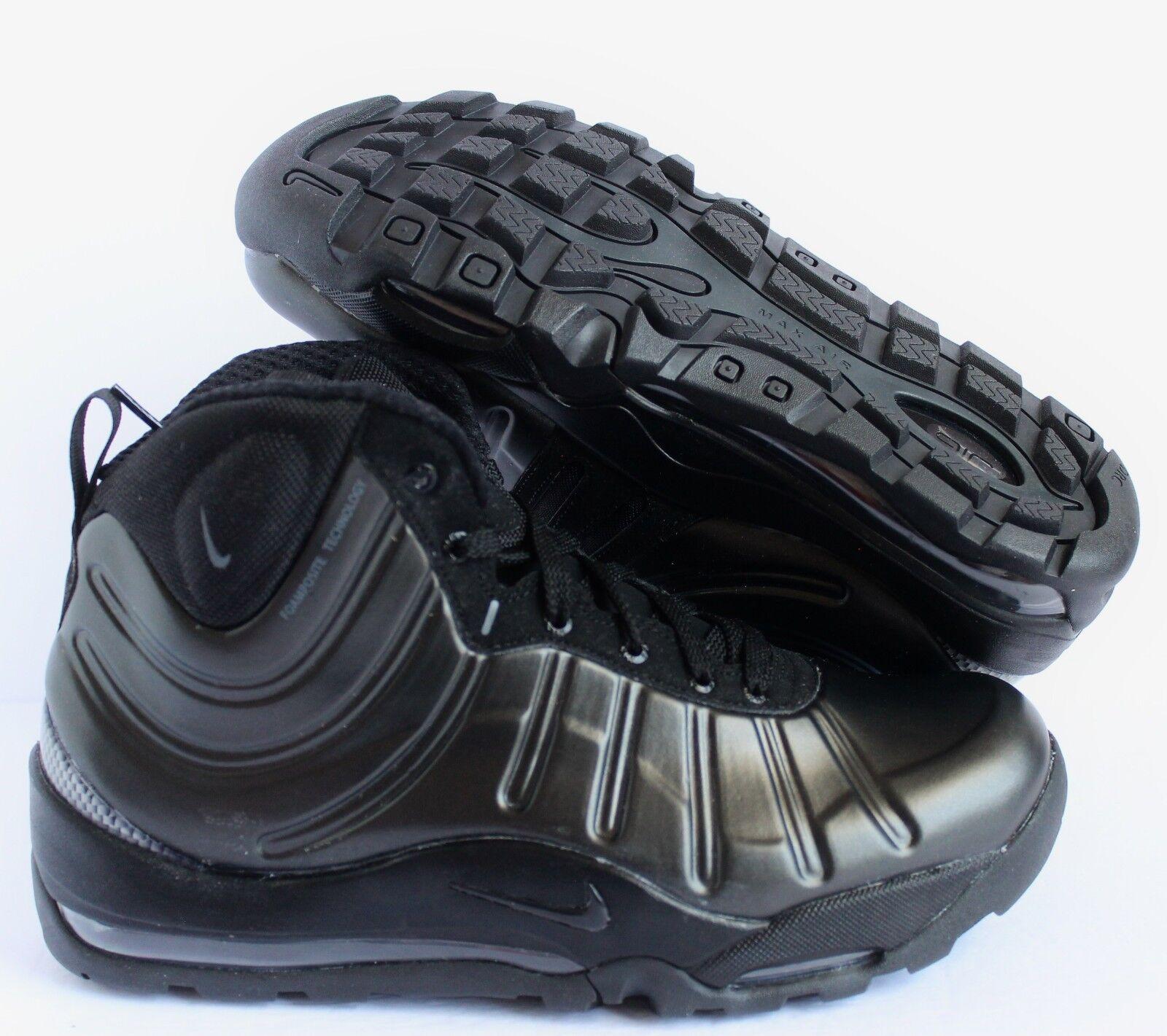 NIKE AIR BAKIN POSITE BOOT BLACK ANTHRACITE BLACK BLACK SZ 7 [618056 001]
