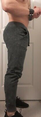 Men Abercrombie & Fitch Gray Joggers Cotton Pants Size M (33 waist)
