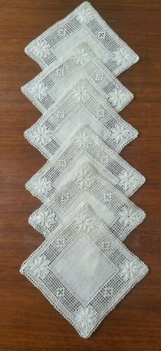 Vintage 6 Lefkara Hand Embroidered of Cyprus     a