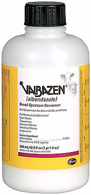 Pfizer Animal Health Valbazen Wormer 500ML