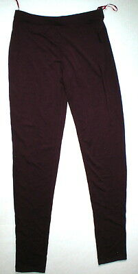 New NWT Designer Natori Dark Red Wine Pants Rayon Womens S Lounge Pajama PJ Tall