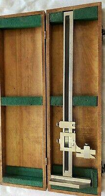 Autometric Vernier Height Gauge 18 Machinist Toolmaker Fine Adjustment