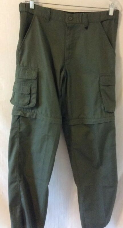 Boy Scouts America Youth Sz 20 Uniform Cargo Convertible Pants Never Hemmed