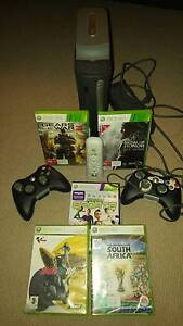 Xbox 360, 2 controllers + 5 games Edgecliff Eastern Suburbs Preview