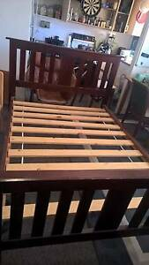 Wooden Bed Frame Pine Wood Doble Kirribilli North Sydney Area Preview