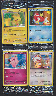 Pokemon 20th Anniversary Toys R Us Promo FOIL Meowth /& Clefairy `SEALED MINT!!!!