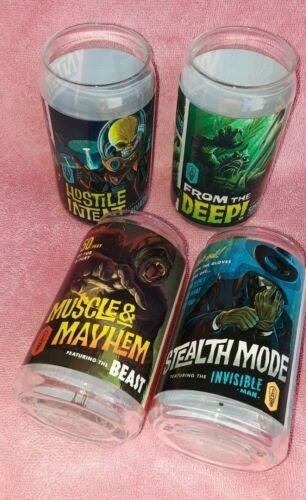 Bottle Logic Brewing designer glasses set of 4 different graphics ALL NEW!
