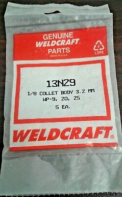FREE P/&P pack 5 Genuine Binzel TIG Collet Body 13N28 2.4mm WP9//20