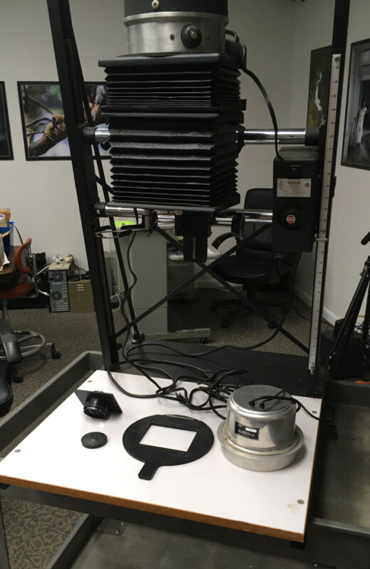 Beseler 45MXT Enlarger with Beslite  45MB Cold Light Head Lens and Carrier