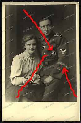 Halle Portrait (Foto-AK-Studio-Portrait-Infanterieregiment 227-Feldherrnhalle-ISA-Orden-)