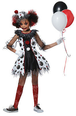 Circus Creepy Clown Joker IT Child Girls Costume - Clown Costume Girls