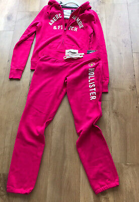 BNWT Abercrombie & Fitch Hollister Trackie  sweatpants & Hoodie RRP$126 Size M L