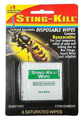 Sting-kill Disposable Wipes 8 Each - 9 Pack