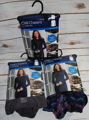 Chill Chasers Cuddl Duds  Fleece w/ Stretch Thumbholes Crew Top - NEW