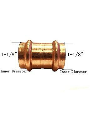 Libra Supply Lead Free 1 Inch 1 Copper Press Coupling With Stop 5pcs